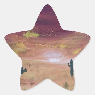 Adesivo Estrela Por do sol do deserto