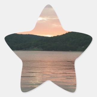 Adesivo Estrela Por do sol na água