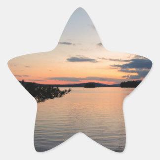 Adesivo Estrela Por do sol sobre o lago Maine Millinocket da ilha