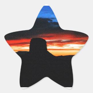 Adesivo Estrela Por do sol, vale do monumento, UT
