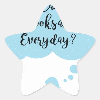 Adesivo Estrela Porque não possa eu apenas leio diário dos livros