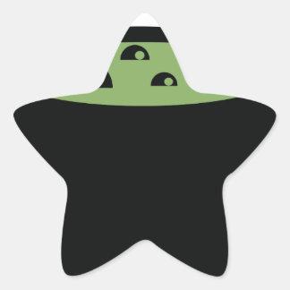 Adesivo Estrela Pote preto e verde do cozinhar