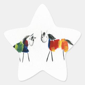 Adesivo Estrela Poucos pôneis do arco-íris