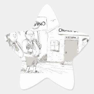 Adesivo Estrela Pregador samoano da igreja que protesta desenhos
