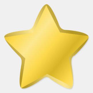 Adesivo Estrela Prêmio da estrela do ouro