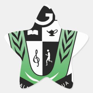 Adesivo Estrela Produtos da crista da reunião dos alunos de GGMSS