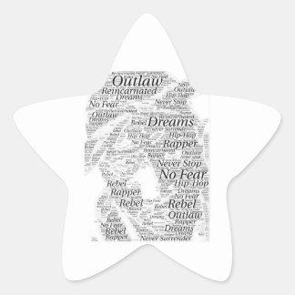 Adesivo Estrela Produtos do esboço dos grafites da palavra do