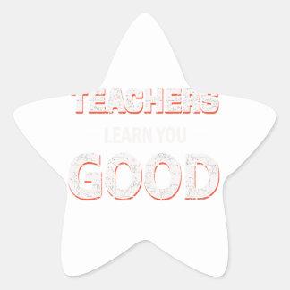 Adesivo Estrela Professores que vão aprendê-lo bom