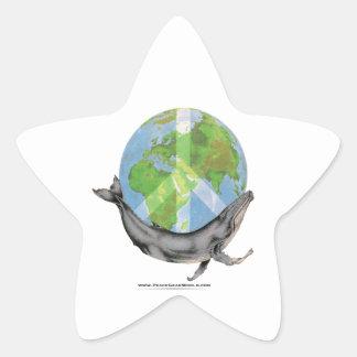 Adesivo Estrela Projeto da paz da baleia de Humpback