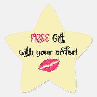 Adesivo Estrela Promocional de Avon, presente livre com sua ordem