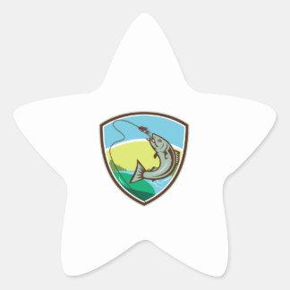 Adesivo Estrela Protetor cortante da atração do gancho da truta