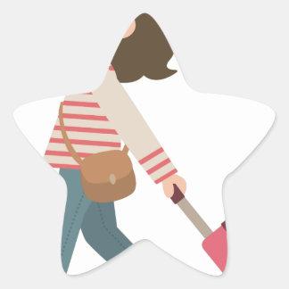 Adesivo Estrela Puxando a bagagem