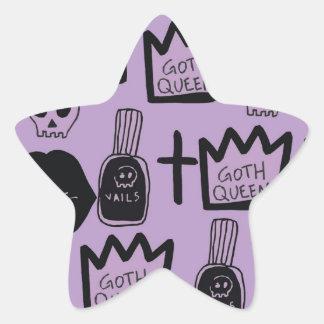 Adesivo Estrela rainha gotica purpura