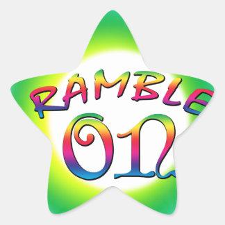 Adesivo Estrela Ramble sobre