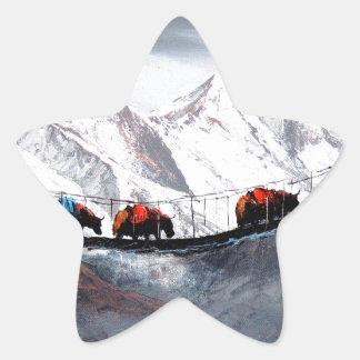 Adesivo Estrela Rebanho de iaques Himalaya da montanha