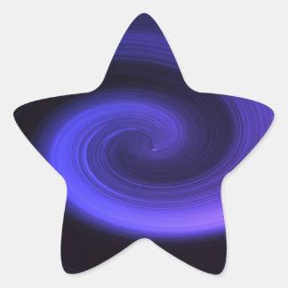 Adesivo Estrela Redemoinho abstrato