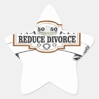 Adesivo Estrela reduza a custódia 50 do divórcio 50