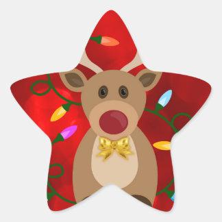 Adesivo Estrela Rena do Natal nas luzes