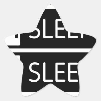 Adesivo Estrela Repetição do sono do sono do sono