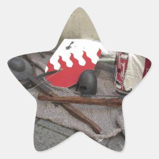 Adesivo Estrela Réplicas de capacetes medievais, bestas,