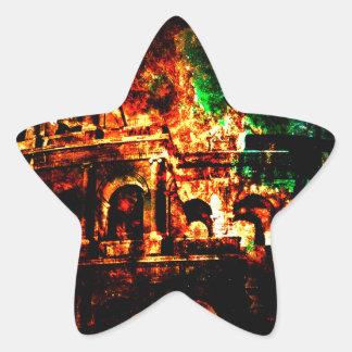 Adesivo Estrela Respire outra vez sonhos dos padrões romanos perto