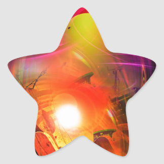 Adesivo Estrela Romantismo de vela - Calcular o tempo túneis