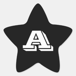 Adesivo Estrela Rotule uma pia batismal de Vineta para enegrecer