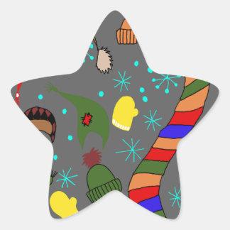 Adesivo Estrela Roupa do inverno