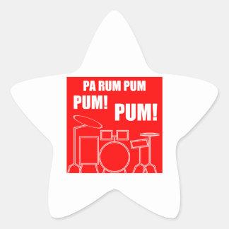 Adesivo Estrela Rum Pum Pum Pum do Pa