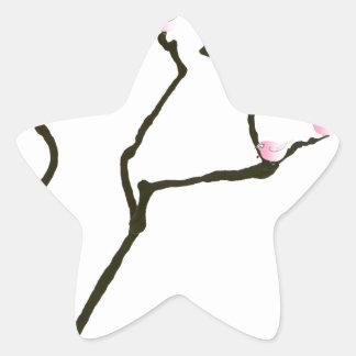 Adesivo Estrela sakura e 7 pássaros cor-de-rosa 1, fernandes tony