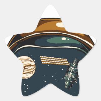Adesivo Estrela satélite da NASA e a lua