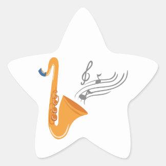 Adesivo Estrela Saxofone do saxofone de Saxophon