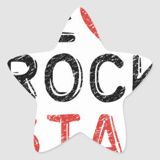 Adesivo Estrela Seja uma estrela do rock