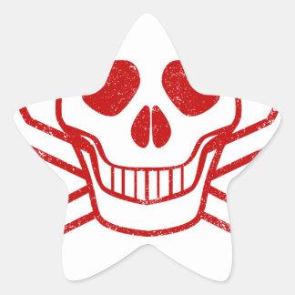 Adesivo Estrela Selo vermelho da tinta do veneno