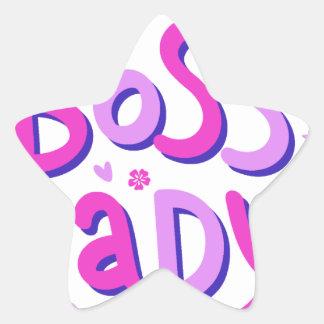 Adesivo Estrela Senhora do chefe