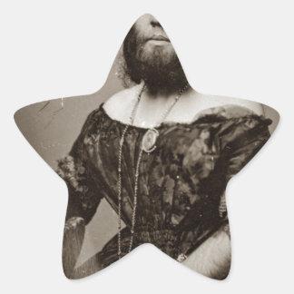 Adesivo Estrela Senhora farpada bonita