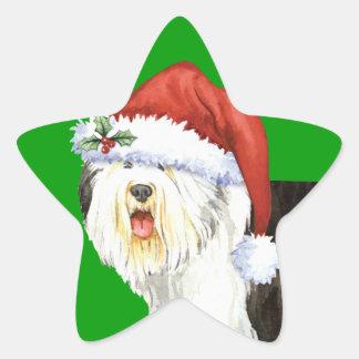 Adesivo Estrela Sheepdog inglês velho feliz de Howlidays