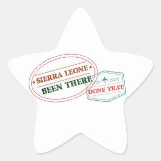 Adesivo Estrela Sierra Leone feito lá isso