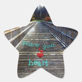 Adesivo Estrela Siga seu coração através da ponte na luz
