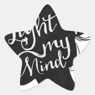Adesivo Estrela Silhouette - light up my mind