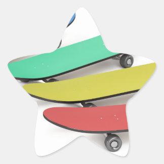 Adesivo Estrela Skates