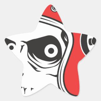 Adesivo Estrela ☞ Skullracer motorcycle helmet