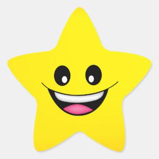 Adesivo Estrela Smiley face feliz