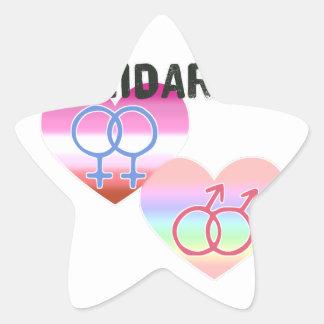 Adesivo Estrela Solidariedade alegre lésbica