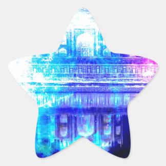 Adesivo Estrela Sonhos de Taj Mahal do céu da criação
