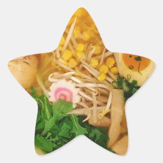 Adesivo Estrela Sopa de macarronete dos Ramen da carne de porco