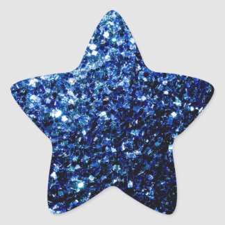 Adesivo Estrela Sparkles azuis escuro bonitos do brilho