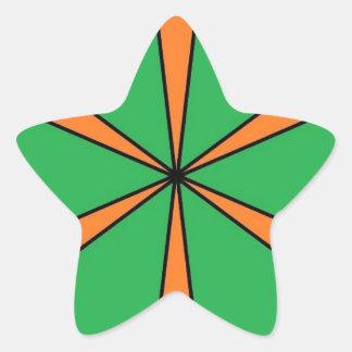 Adesivo Estrela starbursts alaranjados