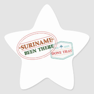 Adesivo Estrela Suriname feito lá