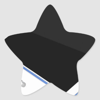 Adesivo Estrela Tabuleta no suporte e na caneta digital